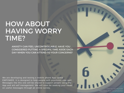 Make time for worry