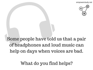 Voices and headphones