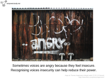 Angry voices can mean insecure voices