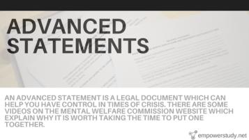 Advanced statements