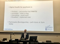 Andrew Gumley presents on the pros and possible cons of digital for psychosis at the NRS Mental Health Research Network Annual Scientific Meeting.